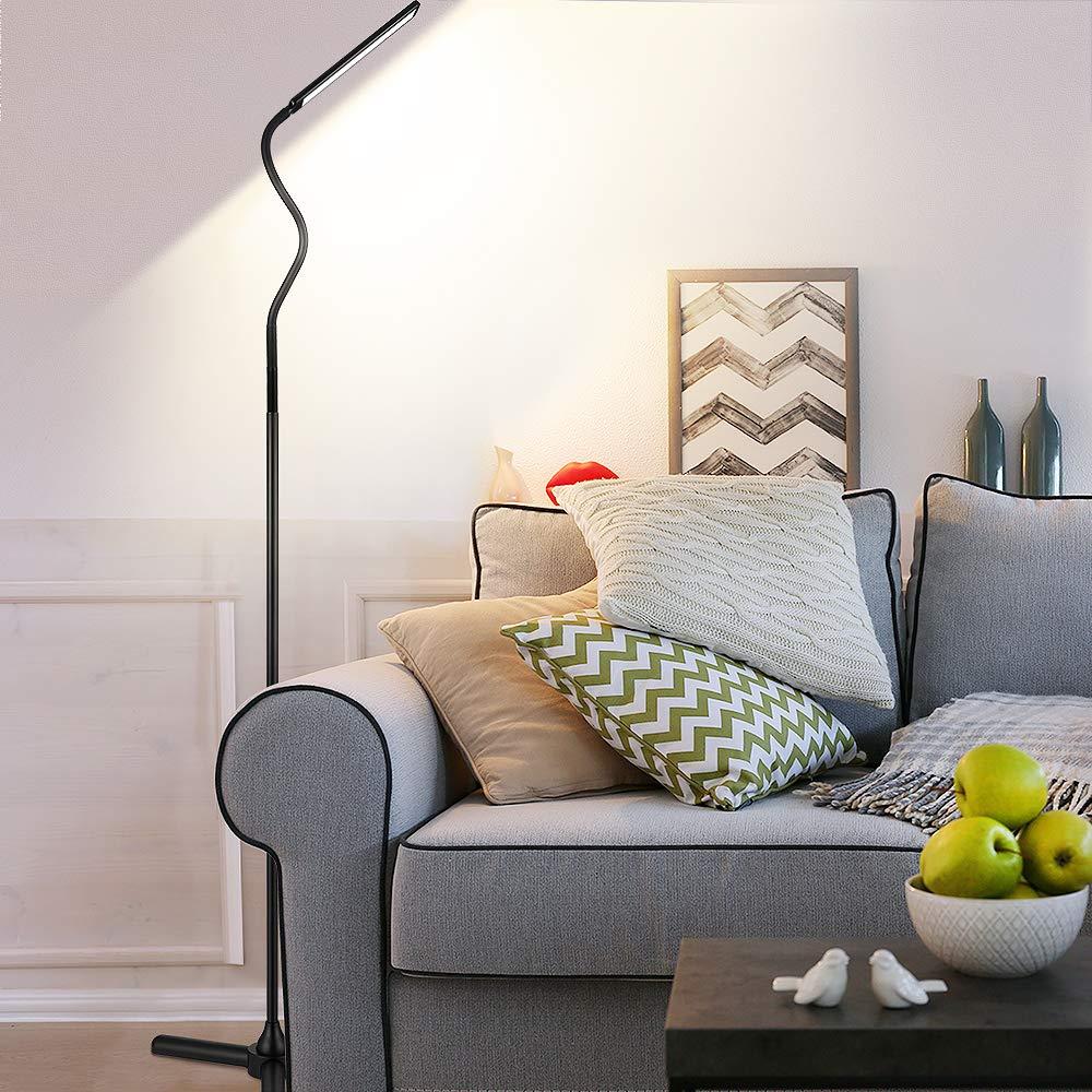 Aukey Led Stehlampe Schlafzimmer Und Buro Augenschonende Moderne