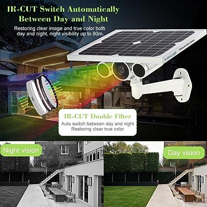 Cámara IP WiFi 4G LTE Red inalámbrica 1080P Cámara de vigilancia de energía Solar Cámara incorporada