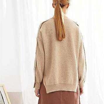 Blusa corta de mujer de moda suéter de invierno (Color : Solid color , Tamaño : One size) : Amazon.es: Hogar
