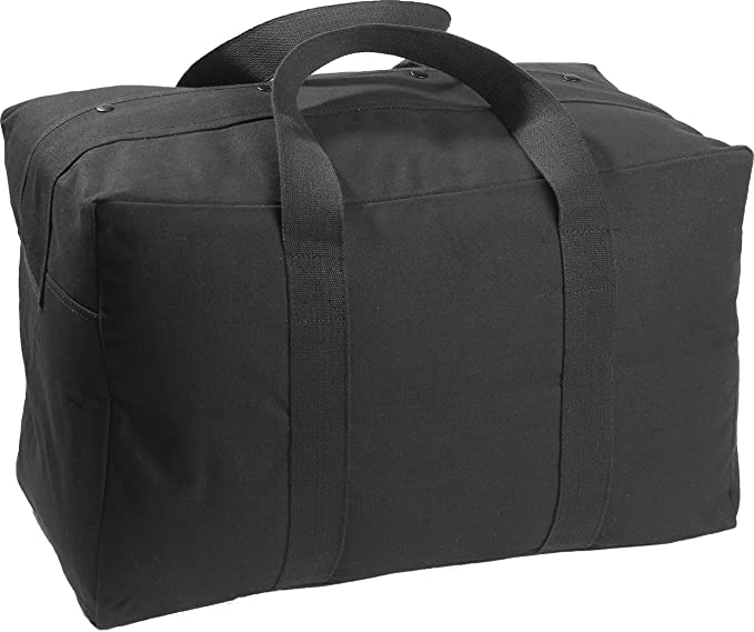 Amazon.com  Military Parachute Cargo Bag by Army Universe (Black ... dbbb30e7ab3