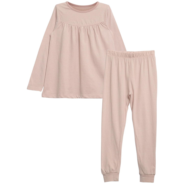 Wheat Mädchen Zweiteiliger Schlafanzug Pajamas Yoke Ls Pink (Dark Rose 2097) 3022-122