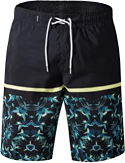 5a85c7dfb1 APTRO Men's Quick Dry Swim Trunks with Pockets Long Elastic Waistband Beach  Holiday Bathing Suits with