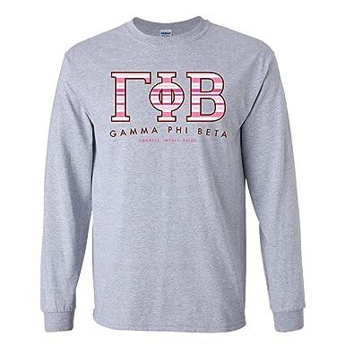 victorystore gamma phi beta long sleeve t shirt greek letter design small sport