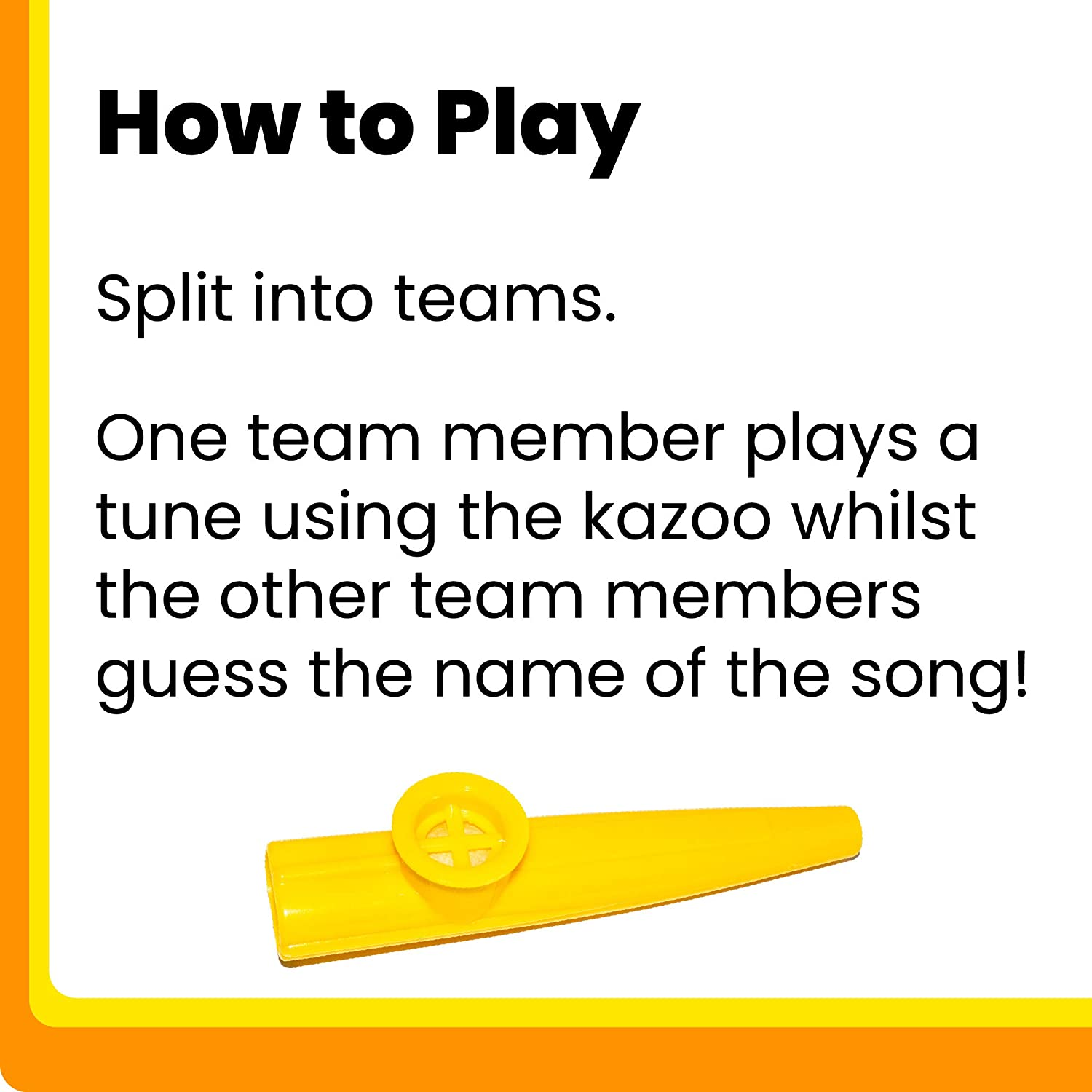 Music Trivia Game with Kazoos Paladone Play That Tune