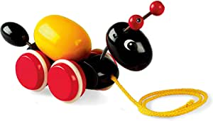 BRIO Pull Along Ant with Egg Baby Toy