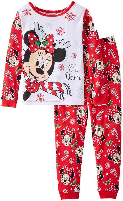 Disney Minnie Mouse Little Girls Toddler Christmas Pajama Set