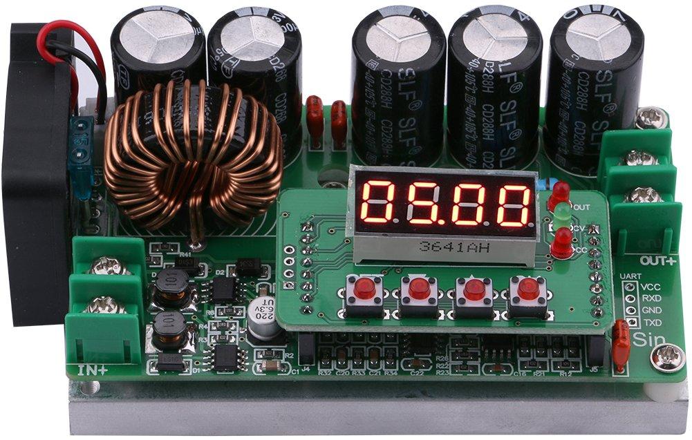 Yeeco Numerisch Steuern DC DC Steigern Stromspannung MKonverter, 6-60V bis 6-90V 10A 600W Aufsteigen Stromspannung Regler Stablizer Leistung Transformator Liefern Modul Tafel Voltmeter Amperemeter