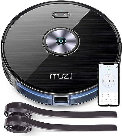Muzili Robot Aspirador,WLAN Robot Aspirador y Fregasuelos con Depósito de Agua,Control de App,Compatible con Alexa y Google Home con 6 Modos de Limpieza para Pelo de Mascotas, Alfombras y Pisos Duros: Amazon.es: