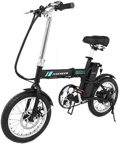 aceshin Bicicleta Eléctrica Plegable de Montaña Con Rueda 16 ...