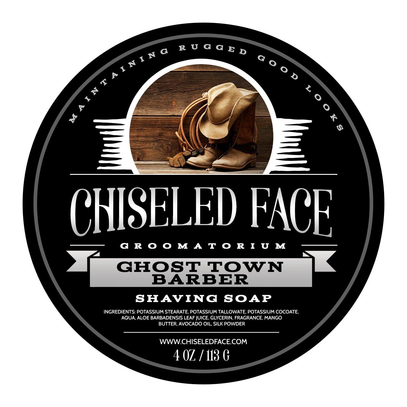 Ghost Town Barber - Handmade Luxury Shaving Soap from Chiseled Face Groomatorium