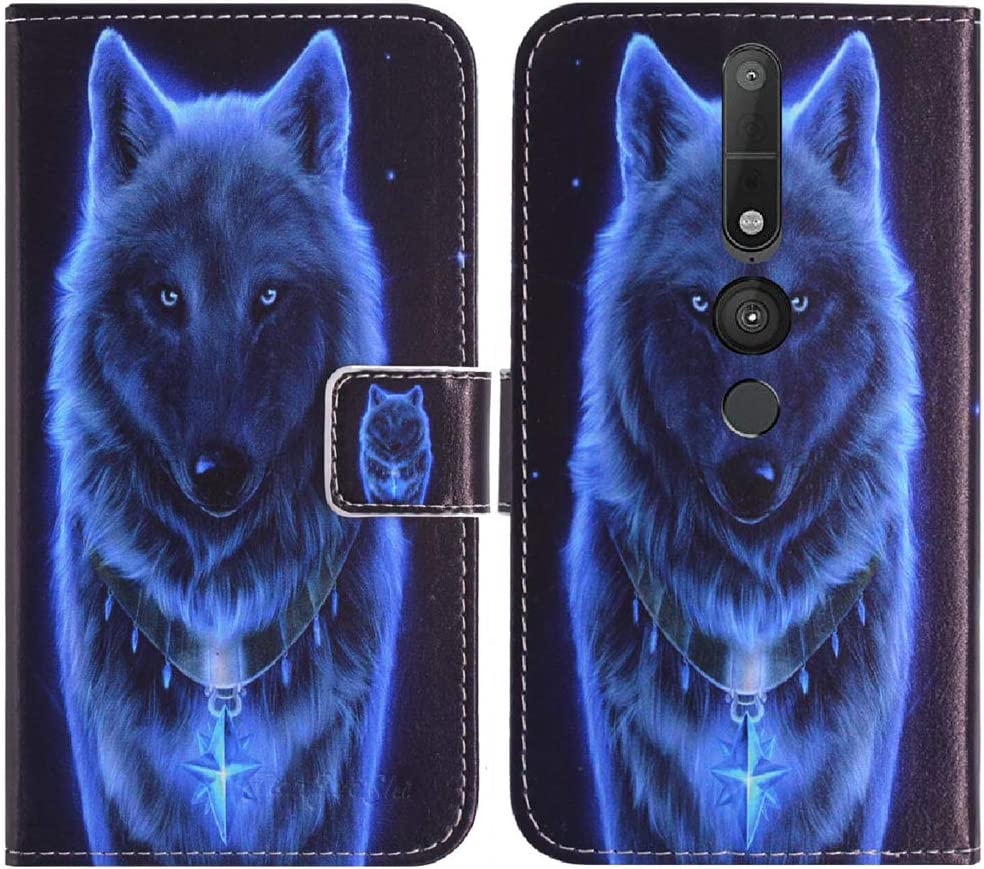 TienJueShi Wolf Book Stand Flip Leather Protector Case Cover TPU Silicone Etui Wallet for Lenovo Phab 2 Pro 6.4 inch