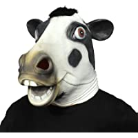 ifkoo Cow mask Novelty Halloween Costume Party Latex Cow Head Mask