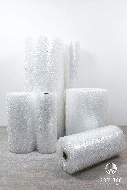 Plástico de burbujas de 75 micras, 50 cm de ancho, 10 m de longitud, material acolchado