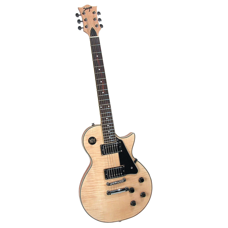 saga lc 10 deluxe electric guitar kit single cutaway