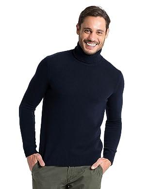meilleur service 8e235 04561 Wool Overs Pull col roulé homme en laine d'agneau
