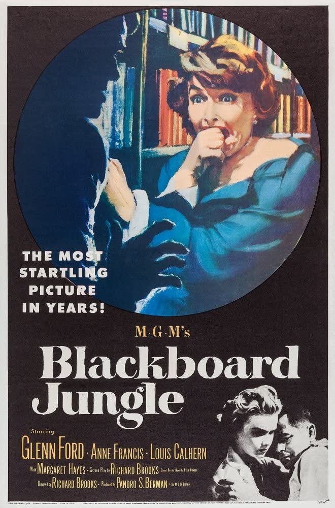 Amazon.com: Posterazzi Blackboard Jungle Margaret Hayes Anne Francis Glenn  Ford 1955 Movie Masterprint Poster Print, (11 x 17): Posters & Prints