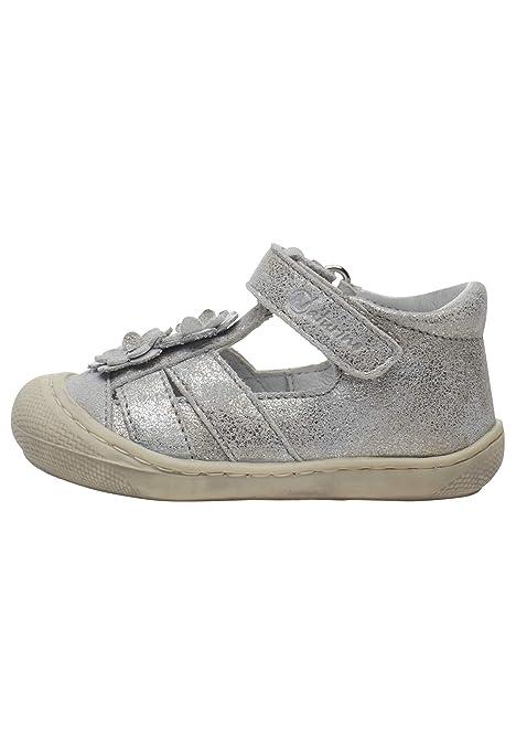 fb21f44b Naturino Maggy-Zapato semiabierto de Piel Plateado 26: Amazon.es: Zapatos y  complementos