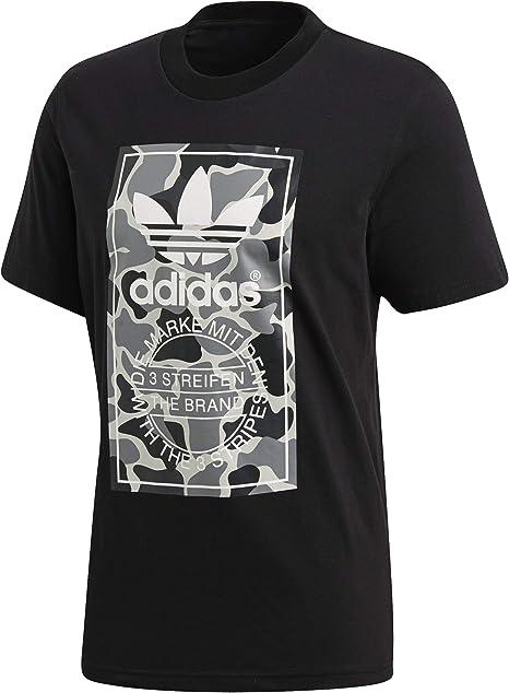 TALLA L. adidas Camo Label - Camiseta Hombre