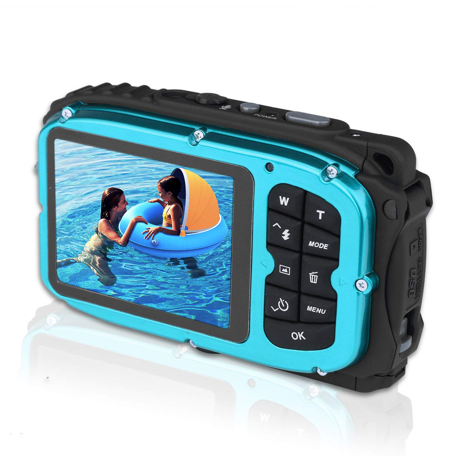 GordVE 2.7 Inch LCD Cameras 16MP Digital Camera Underwater 10m Waterproof Camera+ 8x Zoom by GordVE (Image #1)