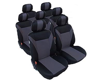 2er vordere Sitzbezüge Schonbezüge Blau-Schwarz Polyester Hochwertig Universal