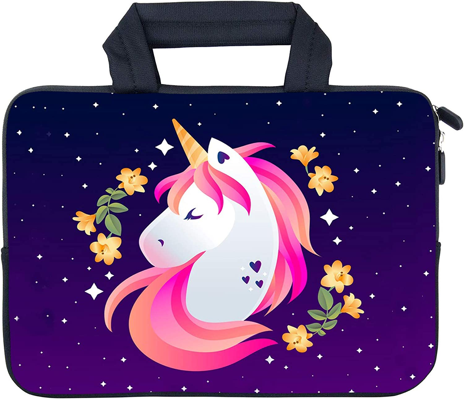 "AMARY 11.6"" 12"" 12.1"" 12.5 inch Laptop Handle Bag Neoprene Notebook Carrying Pouch Chromebook Sleeve Ultrabook Case Tablet Cover Fit Apple MacBook Air HP DELL Lenovo Asus Samsung (Unicorn)"
