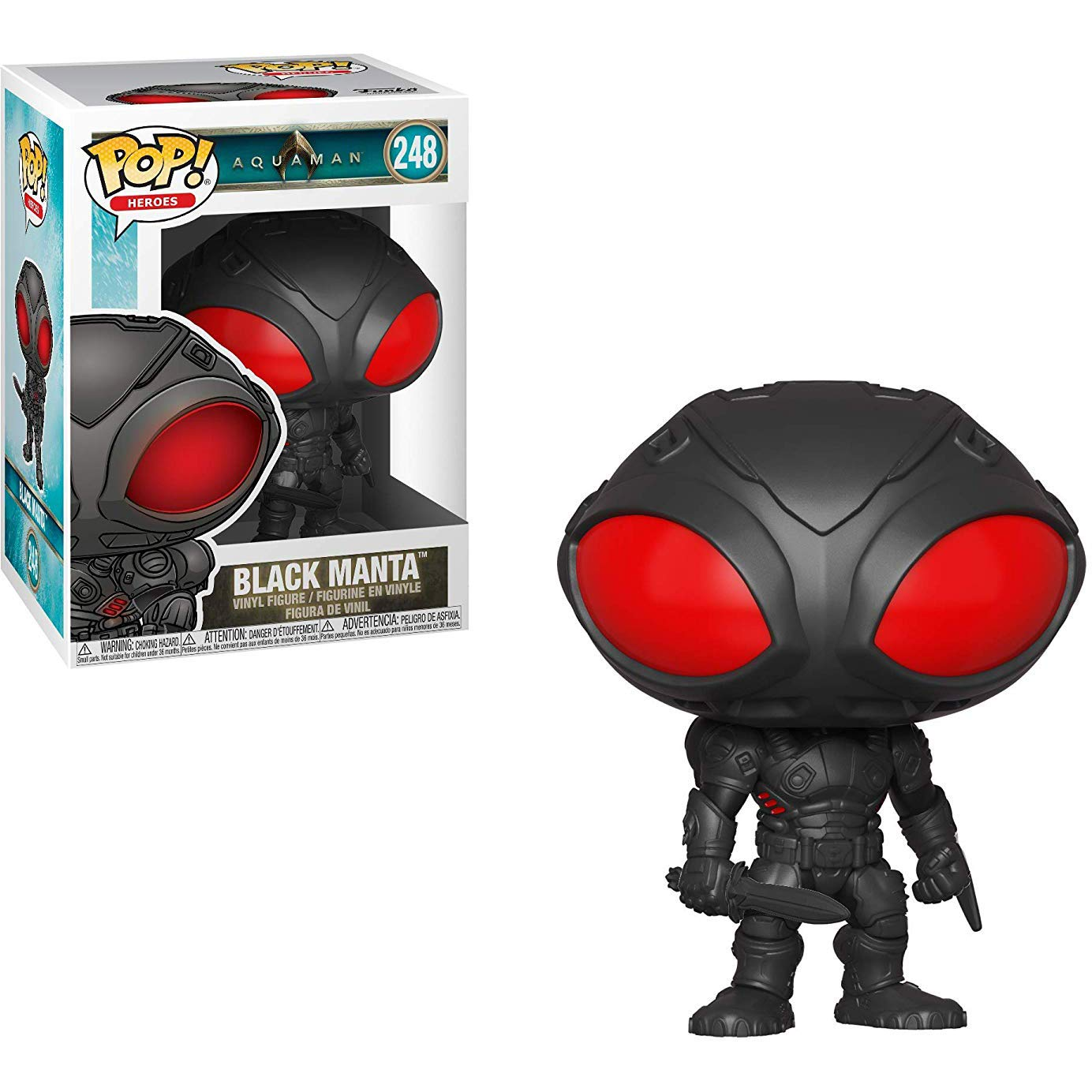 Heroes Vinyl Figure /& 1 PET Plastic Graphical Protector Bundle Funko Black Manta: Aquaman x POP #248 // 31183 - B BCC94Y4E