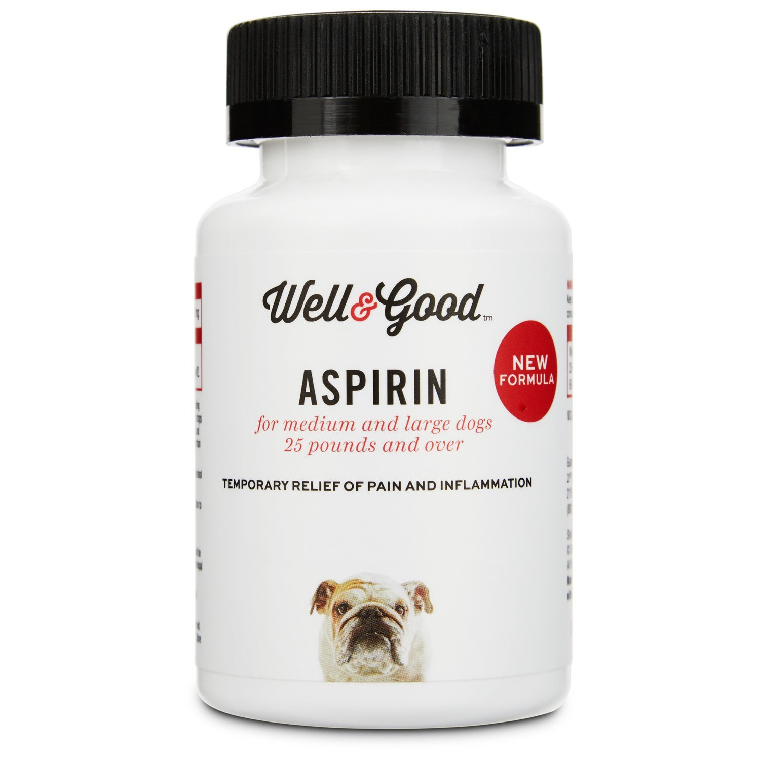 Well & Good Dog Aspirin, 75 Tablets, for Large Dogs by Well & Good