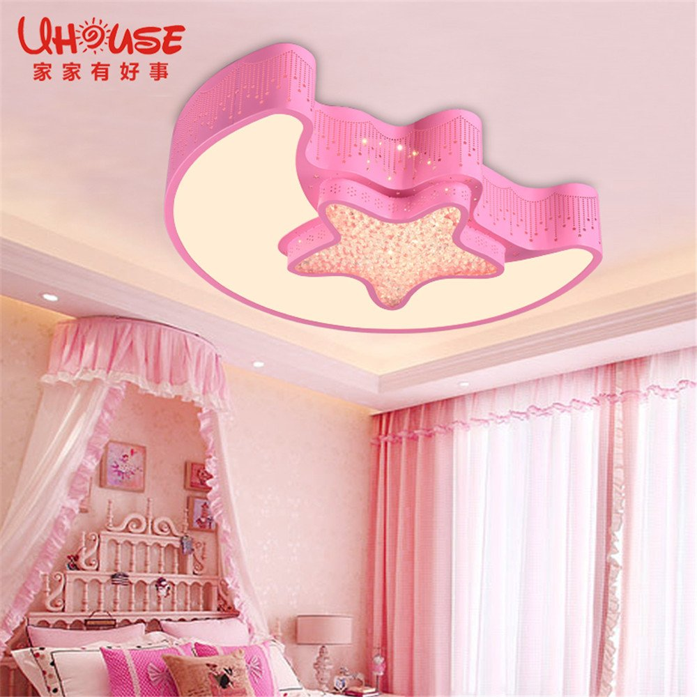 Leihongthebox Ceiling Lights lamp The stars of the Moon Child room ceiling girls baby for Hall, Study Room, Office, Bedroom, Living Room,550430mm