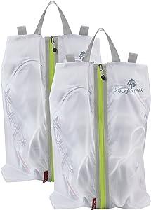 Eagle Creek Pack-It Specter Shoe Sac Set, White/Strobe, Set of 2