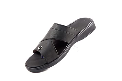 8336ba46b1e9 VHAAN Orthopedic Sandal PU Sole MCP Insole Diabetic Footwear for Men and  Women (Black Dr