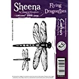 Crafter 's Companion Sheena Douglass selbst stamp-flying Libellen, andere, mehrfarbig