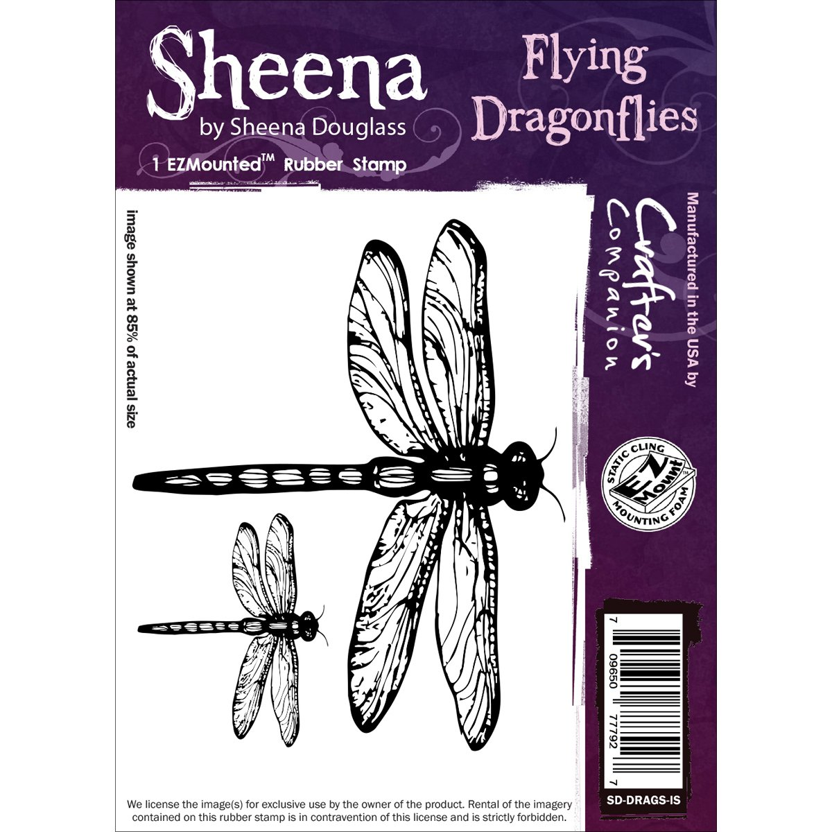 Crafter's Companion Sheena Douglass Cling Stamp-Flying Dragonflies Crafter's Companion SD-DRAGS