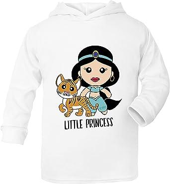 Aladdin Princess Jasmine - Sudadera con Capucha (algodón, para niños de 0 Meses a 6 años) Blanco Blanco 4-5 Años: Amazon.es: Ropa y accesorios
