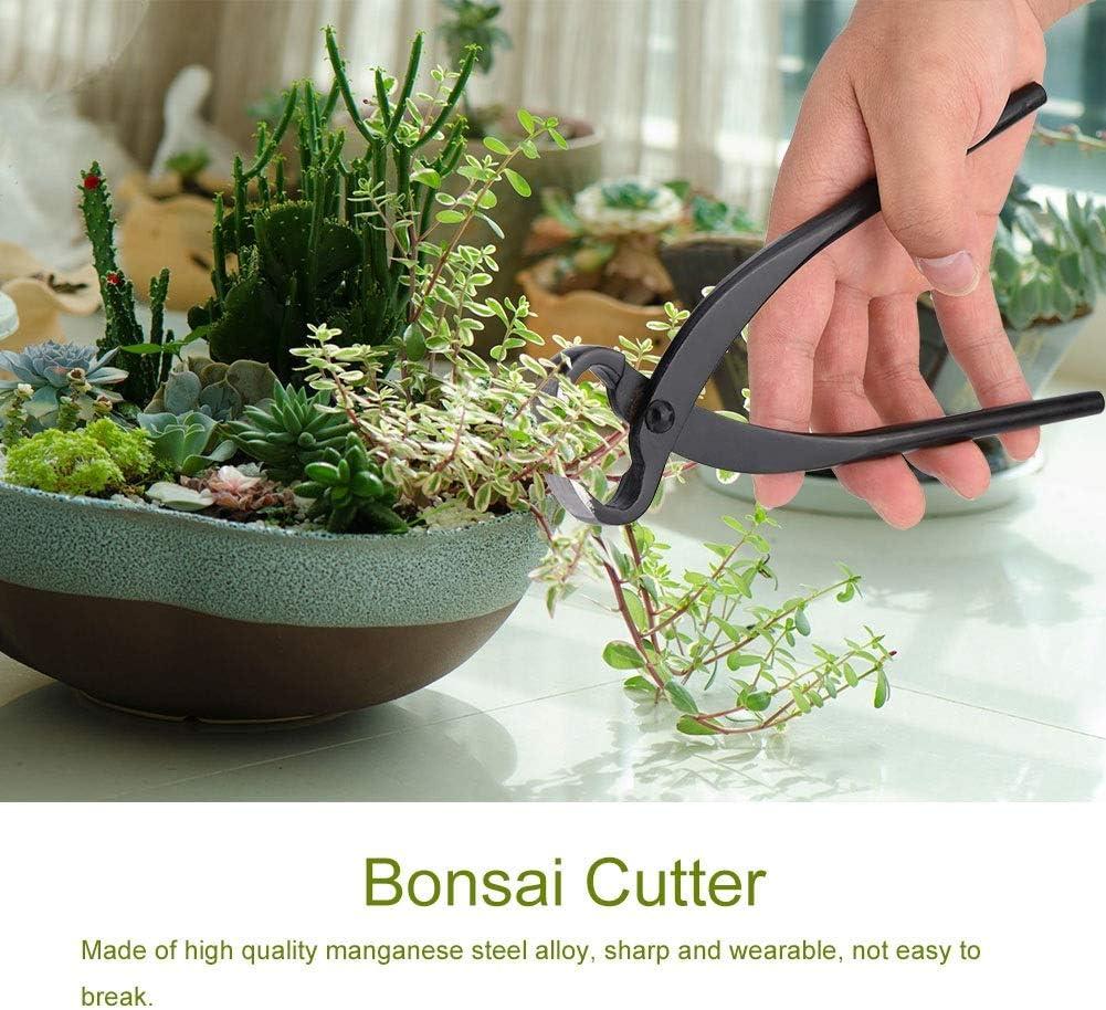 Vobor Bonsai Wurzelschneider-205mm Professionelle Mangan Stahllegierung Konkave Wurzelschneider Bonsai Werkzeuge