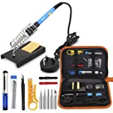 SOLDERING IRON KIT 60W 220V ADJUSTABLE TEMPERATURE SOLDERING FULL TOOL SET