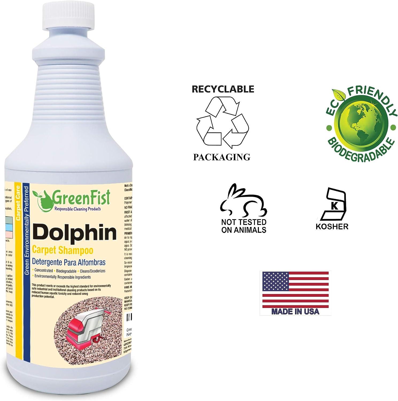 greenfist comercial delfín alfombra champú [concentrado ...