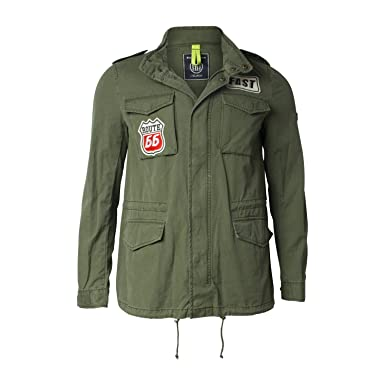 Schuhe für billige absolut stilvoll Gutscheincode Blonde No.8 Men's Parka Jacket Green Dark Moss: Amazon.co.uk ...