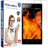CELLBELL® Tempered Glass Screen Protector For Reliance Jio LYF Flame 8 With FREE Installation Kit