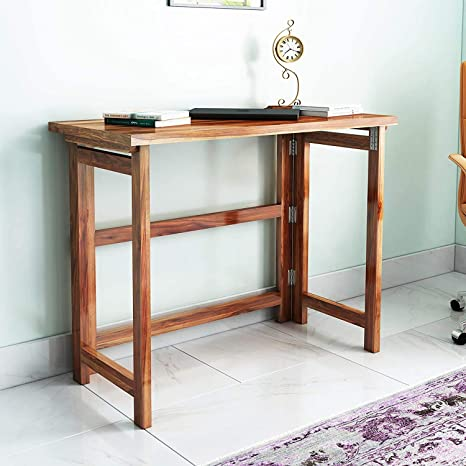 Craftatoz Nest Solid Wood Fordable Study Table Workstation  Sheesham Wood