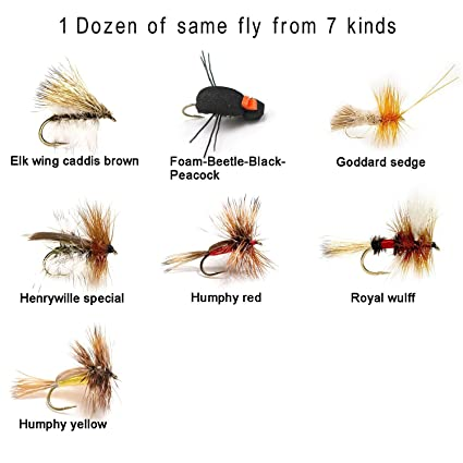 X Caddis Brown size 18 dry flies 12 1 Dozen