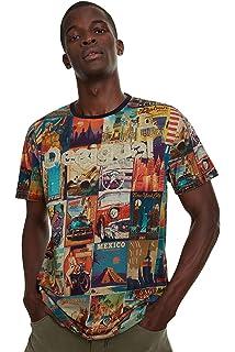 Desigual Erenesto - Camiseta para hombre - Multi color - Medium: Amazon.es: Ropa y accesorios