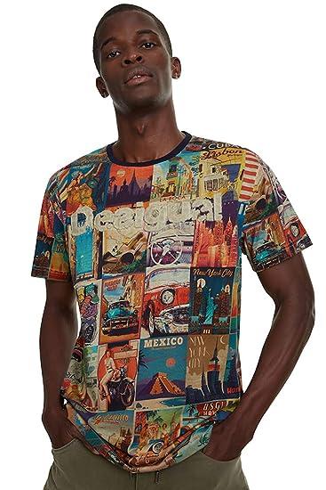 Desigual Erenesto - Camiseta para Hombre Medium: Amazon.es: Ropa y ...