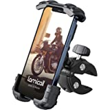 Lamicall Bike Phone Holder Mount - Motorcycle Handlebar Phone Clamp, Scooter Phone Clip for iPhone 12 Pro Max, Galaxy S9 and