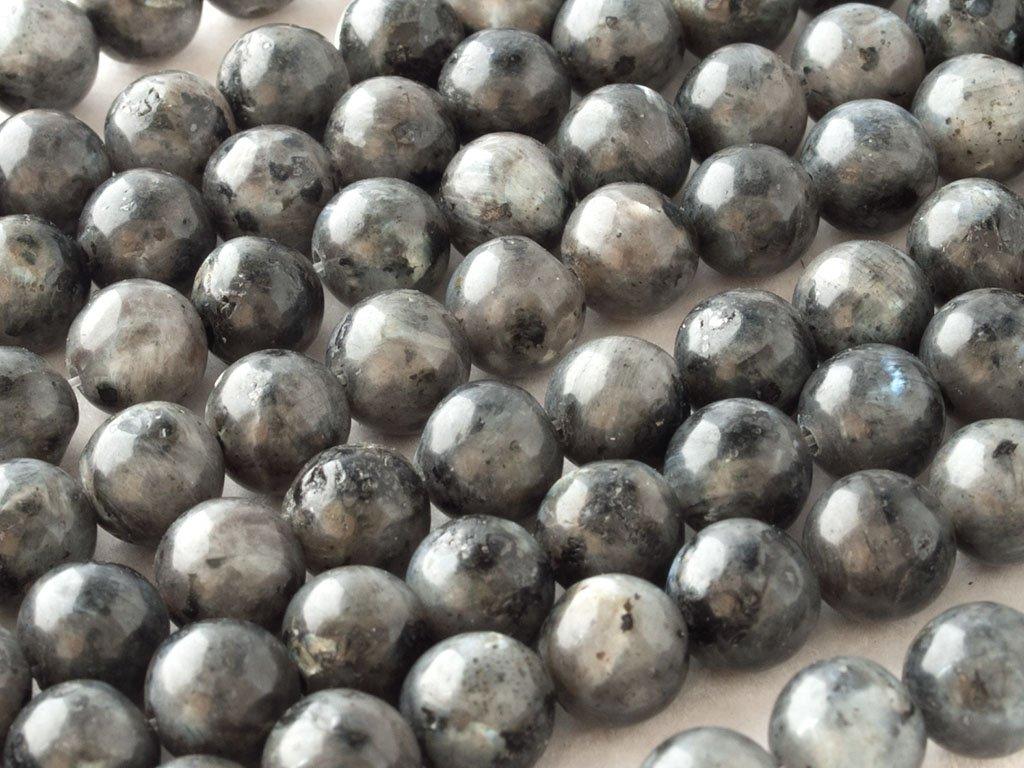 Abalorio Cuenta Bola~40cm un Tira. DIY Beads Ok Genuino 4mm Labradorite, Light Grey, Round Bead Natural AA-grado Mostacilla o Chaquira De Piedra Semipreciosa Claro Gris Labradorita