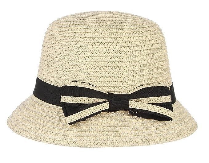 c45818f84ef Gemvie Straw Hat Cute for Baby Girls Sun Hat UPF 50+ Straw Bucket Hat with