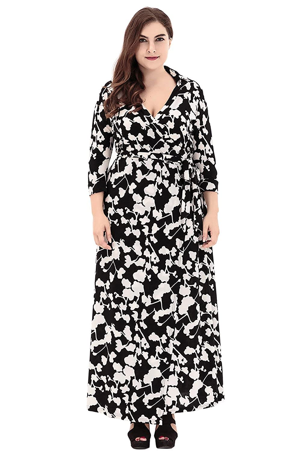 Muslim Women Long Sleeve Dress Islamic Clothing Dubai Kaftan Plus Size Maxi Casual Abaya Turkish Caftan