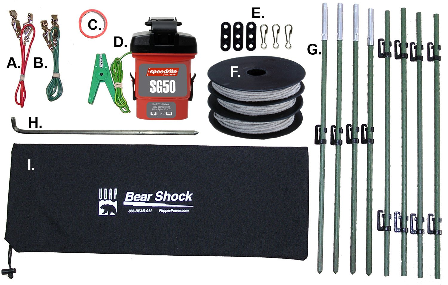 Amazon.com : Udap BEF Bear Shock Electric Fence : Bear Protection ...