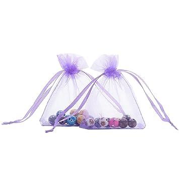 Amazon.com: Bolsa de organza Anleolife multicolor, con ...