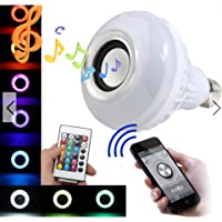 Lampada Musical Bluetooth Rgbw C/Controle De Led Caixa De Som E27
