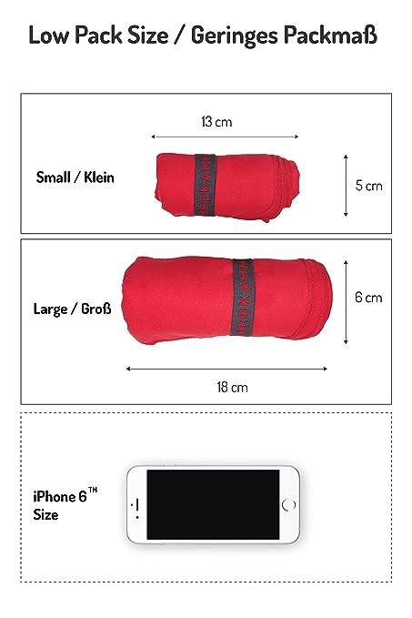 NORDKAMM - Toalla de Microfibra, Certificado Oeko Tex 100, Rojo, Ultraligera, Secado Rápido y Ultra Suave. Toalla Pequeña 50x100, Grande 70x150. para ...